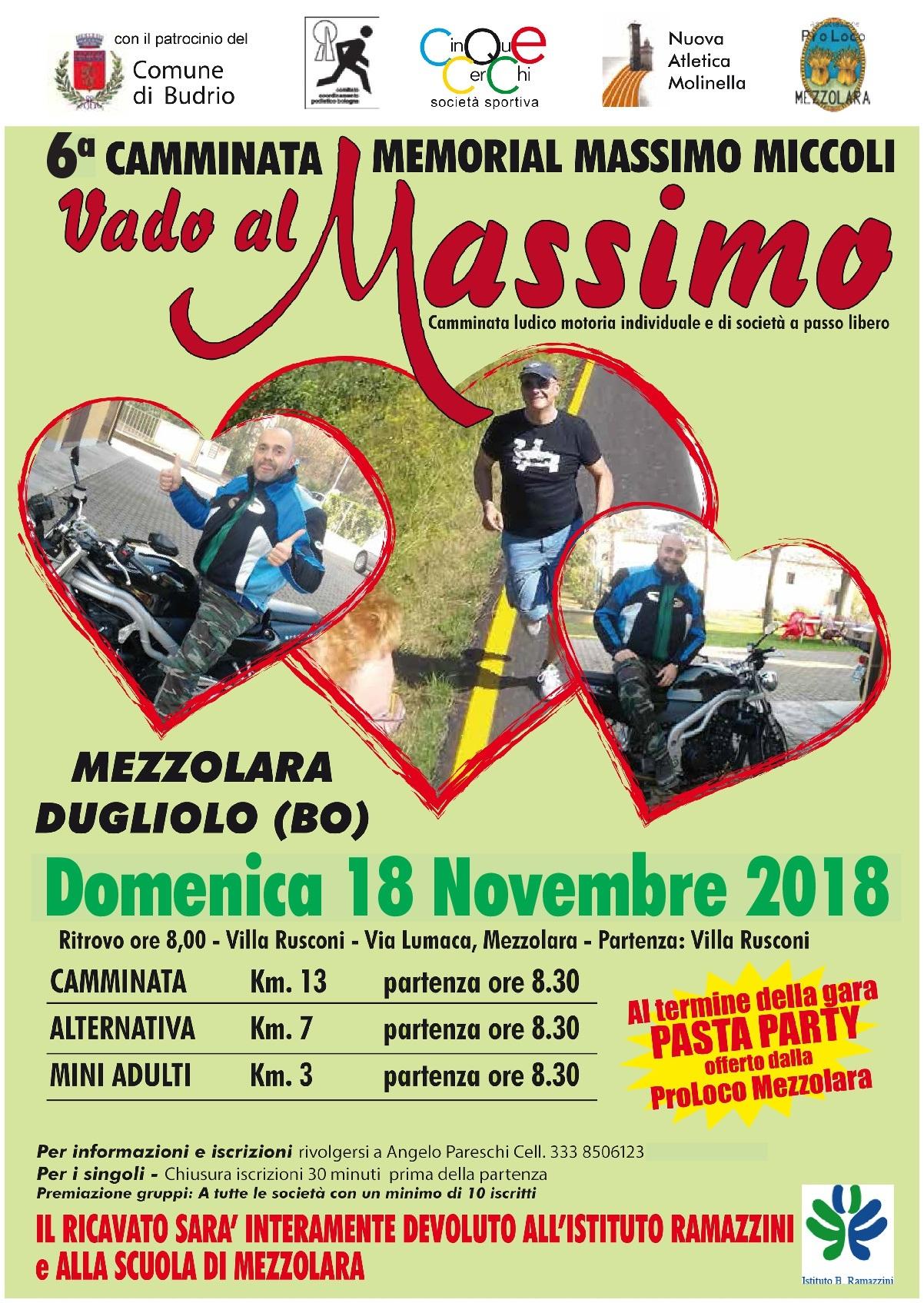 6ª Camminata Memorial Massimo Miccoli